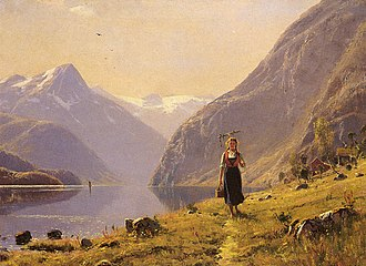 Hans Dahl - Image: Dahl Hans (Norwegian) 1849 to 1937 By The F Jord O C 49.5 by 67.3 cm