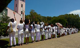 Damas de Blanco demonstration in Havana, Cuba.jpg