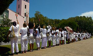 Sakharov Prize - Members of Ladies in White, a 2005 laureate, demonstrate in Havana, Cuba.