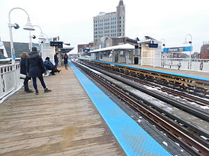 Damen station (CTA Blue Line) - Image: Damen Station