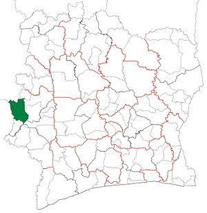 Danané Department - Image: Danané Department locator map Côte d'Ivoire