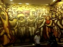 Файл:David Alfaro Siqueiros - Murales at the Castle Chapultepec.ogv