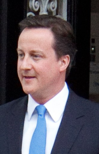 2010 United Kingdom government formation - Conservative leader David Cameron seen leaving St Stephen's Club on the afternoon of 7 May 2010, the day his party began negotiations with the Liberal Democrats to form a government.