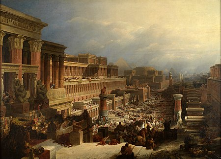 Departure of the Israelites by David Roberts, 1829 David Roberts-IsraelitesLeavingEgypt 1828.jpg