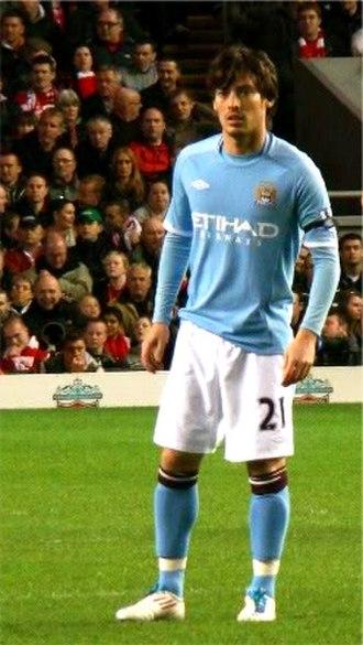 David Silva - Silva with Manchester City in April 2011