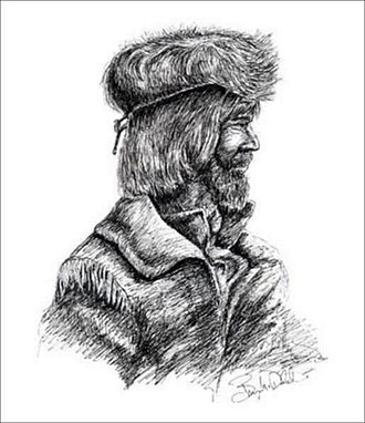David Thompson (explorer) - An artist's impression of Thompson based on historical accounts