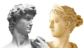 David face & Greek deity head.png
