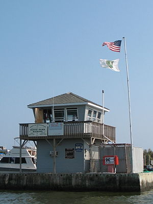 Davis Park, New York - Davis Park Dockmaster Tower, Ferry Port and Marina