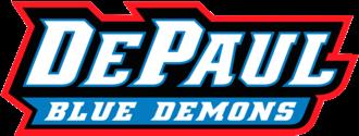 DePaul Blue Demons men's basketball - Image: De Paul Blue Demons Script Logo