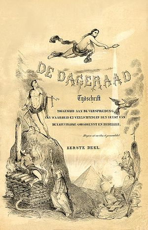 De Vrije Gedachte - Cover of the first De Dageraad.