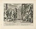 De koning van de Ammonieten eist land op Geschiedenis van Jefta (serietitel), RP-P-OB-102.810.jpg