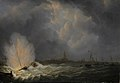 De ontploffing voor Antwerpen van kanonneerboot nr 2 onder commando van Jan van Speijk, 5 februari 1831 Rijksmuseum SK-C-226.jpeg