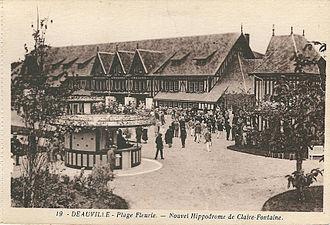 Deauville-FR-14-CPA-La Plage fleurie-Nouvel Hippodrome de Claire-Fontaine-01.jpg