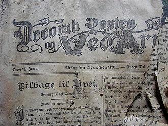 Decorah Posten - Front page of Decorah-Posten, 1911