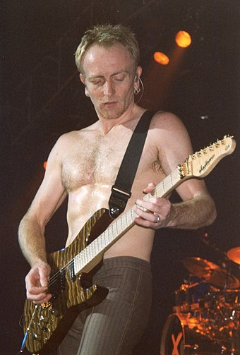 Guitarist Phil Collen (pictured in 2003) joined the band in 1982.