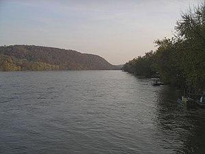 The Delaware River at New Hope, Pennsylvania