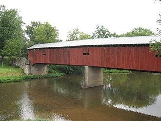 Dellville Covered Bridge - Image: Dellville Covered Bridge PA 2012