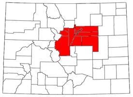 denver metropolitan area map Denver Metropolitan Area Wikipedia denver metropolitan area map