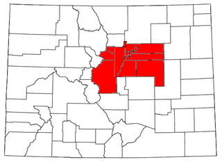 Denver metropolitan area conurbation region in the U.S. state of Colorado, of which Denver is the central city