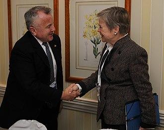 Rose Gottemoeller - Gottemoeller greets US Deputy Secretary of State John Sullivan in Munich in 2018