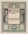 Design for a certificate of citizenship, awarded by the city of Vienna MET DP867707.jpg