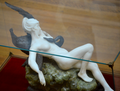 Desiré Maurice Ferrary (1852-1904) - Leda and the Swan (1898) above right 1, Lady Lever Art Gallery, Port Sunlight, Cheshire, June 2013 (9102800785).png