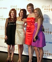 Delany, Teri Hatcher, Brenda Strong, and Andrea Bowen at the 20th GLAAD Media Awards in 2009.