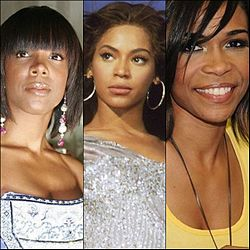 Destiny's Child finálová zostava; zľava: Kelly Rowland, Beyoncé Knowles, Michelle Williams