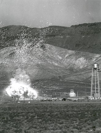 Nuclear thermal rocket - A KIWI engine being destructively tested