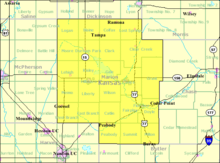 Detailed map of Marion County, Kansas