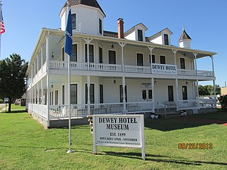 National Register of Historic Places listings in Washington County, Oklahoma - Image: Dewey Hotel
