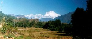 Baglung - Mt. Dhaulagiri seen from Baglung