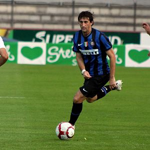 Diego Milito - Diego Milito during a pre-season match in 2009