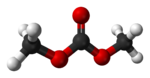 Ball-and-stick model of dimethyl carbonate
