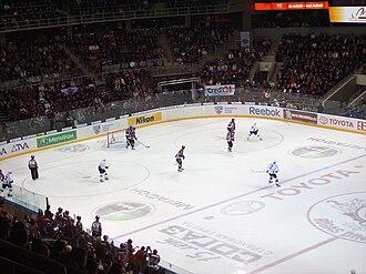 Dinamo Riga - Dinamo Riga's match against Barys Astana at the Arēna Rīga in 2008.