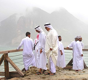 Thawb - Arab men wearing thawbs in Salalah, Oman.