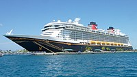 Disney Dream docked in the Bahamas 02 (cropped).JPG