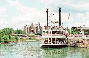 Admiral Joe Fowler Riverboat - Image: Disneyworld, Orlando, FL, summer 1972 07