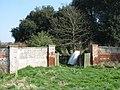 Disused estate gateway below Courtlands - geograph.org.uk - 1208485.jpg