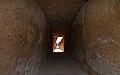 Dolmen de Viera, vista de la entrada desde el interior.jpg