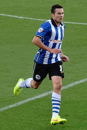 Don Cowie (footballer) - Cowie playing for Wigan Athletic in 2014