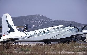 Douglas B-23 Dragon - Douglas B-23 converted to executive transport role at Athens (Hellenikon) Airport in 1973