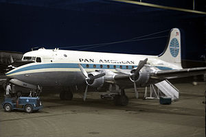 Pan Am Flight 923 - A Pan American DC-4 similar to the one in Flight 923.