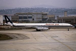 Arrow Air Flight 1285 - An Arrow Air DC-8-63CF, identical to the one that crashed.