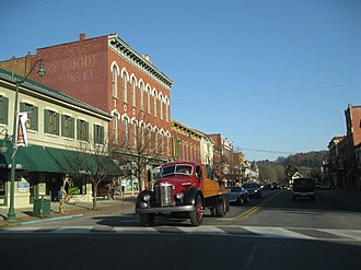 National Register of Historic Places listings in Jefferson County, Pennsylvania - Image: Downtown Brookville PA Nov 09