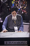 Dr. Lonnie Smith on Hammond, NAMM 2013.jpg
