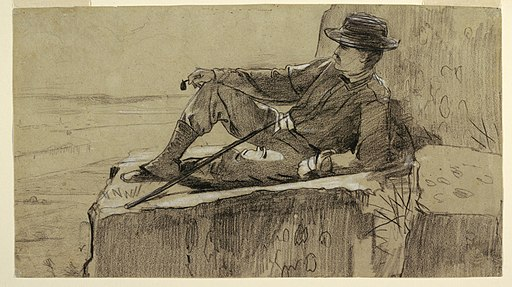 "Drawing, Study for ""Mountain Climber Resting"", 1868–69 (CH 18175509)"