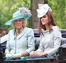 Camilla und Catherine, Duchess of Cambridge bei Trooping the Colour, 17. Juni 2012.
