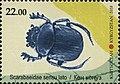 Dung beetle Scarabaeus Postage stamp Kyrgyzstan 2018.jpg