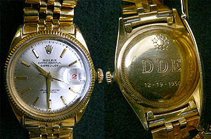 Raleigh DeGeer Amyx - Dwight Eisenhower's Rolex watch, from the Raleigh DeGeer Amyx Collection